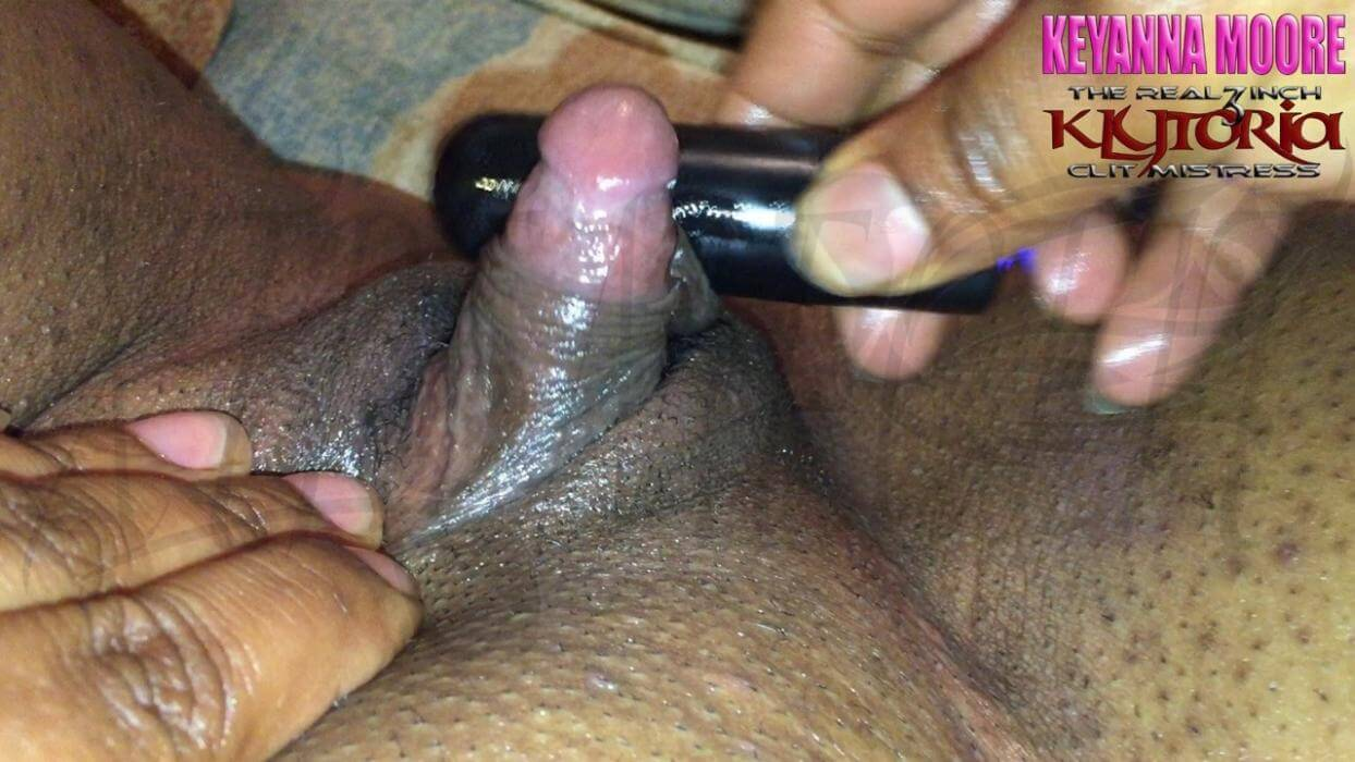 Beautiful black girl with a big clit